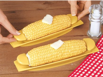 corn trays and skewers