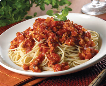 spagetti and meat sauce