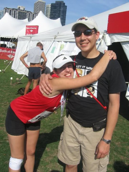 Erin after finish