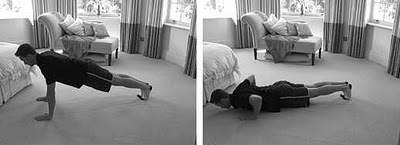 Exercise in hotel room