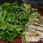 Chicken with Watercress Salad and Guacamole