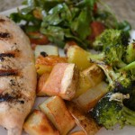 Yogurt-Marinated Grilled Chicken with Roasted Vegetables